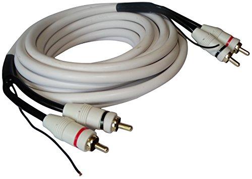 Aerzetix: RCA cinch-stekker naar stekker audiokabel remote-kabel 5m wit subwoofer-versterker