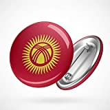 Hellweg Druckerei Button Anstecker Kyrgyzstan Kirgisistan Flagge Zentralasien Badge Abzeichen Pin
