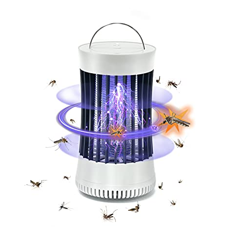 NALAX Bug Zapper, Portable Mosquito Killer Trap, 2000Ah Long Battery Life & USB Powered Rechargeable Insec Fly Zapper for Indoor Outdoor, Camping, Travel, Strong Suction Turbo Fan