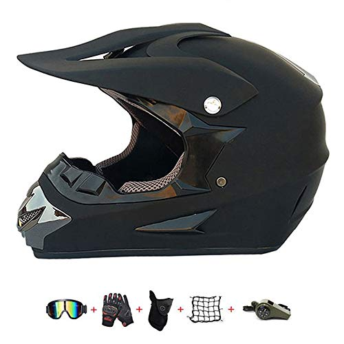 Motocross-Helm,Offroad-Motorradhelm für Kinder mit Schutzbrille Handschuhe Crashhelm...