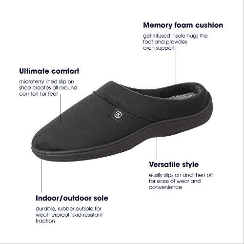 Men's Microsuede Devin Slip On Slipper with with Cooling Memory Foam for Indoor/Outdoor Comfort