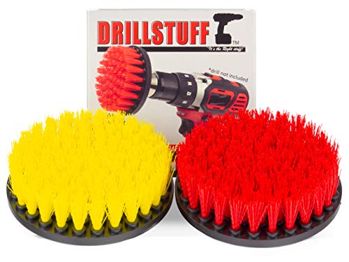 Cleaning Supplies - Drill Brush - Outdoor - Deck Brush - Concrete - Bird Bath - Hard Water Stain Remover - Bathroom Accessories - Shower Cleaner - Bathtub - Bath Mat - Flooring - Tile - Grout Cleaner