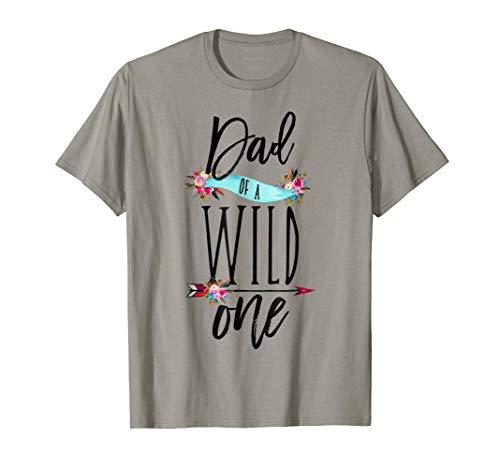 Dad of a Wild One Shirt Boho 1st Birthday Daddy Family Tee