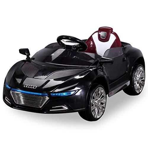 Actionbikes Motors Kinder Elektroauto Spyder A228 - Led Scheinwerfer - Fernbedienung - Weichgummiringreifen - Elektro Auto für Kinder ab 3 Jahre - Kinderauto (Schwarz)