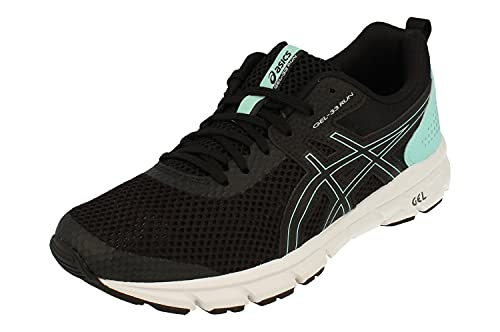 Asics Gel-33 Run Mujeres Running Trainers 1012A546 Sneakers Zapatos (UK 7.5 US 9.5 EU 41.5, Black Flash Coral 002)