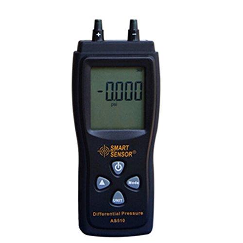 Portatili Prodotti scientifici Manometro Pressione atmosferica Digitale Misuratore di Pressione differenziale 0-100 hPa / 0-45,15 in H2O manometro Digitale a depressione Negativo Mete AS510