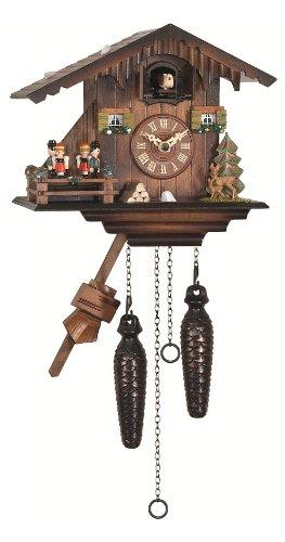 Engstler Reloj cucú de Cuarzo Casa Suiza con música, Bailarines Que Dan Vuelta EN 424 QMT