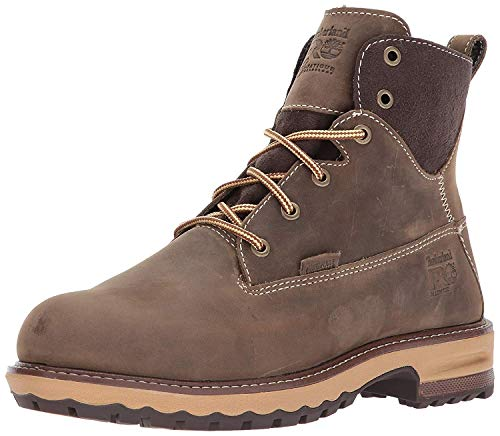 "Timberland PRO Women's Hightower 6"" Alloy Toe Waterproof Industrial & Construction Shoe, Turkish Coffee, 5.5"