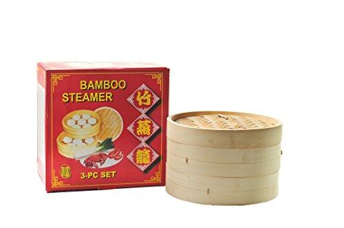 Bambusdämpfer 25cm 3-teilig Bambus Dämpfer Steamer