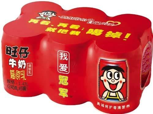 旺仔 milk ミルク 復原乳 調製女乃 中?物? 1缶 245m (6缶セット)