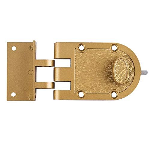 Single Cylinder Outer Edge Door Lock, Night Door Entrance with Key, Gold-Plated Treatment