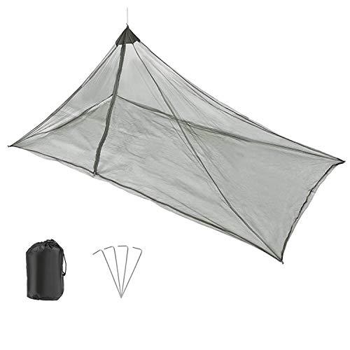 GWHOLE Camping Moskitonetz mit Reißverschluss Leicht Insektenschutz für Reise Wandern Garten Outdoor 240 x 110 x 140 cm