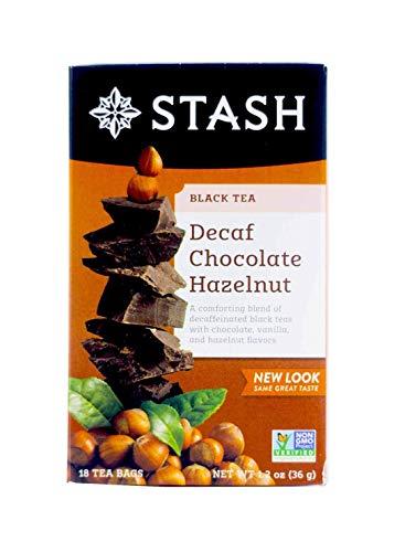 Stash Tea Decaf Chocolate Hazelnut Tea, 18 ct, 2 pk