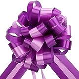 EDATOFLY 5 Piezas Lazos Regalos Grandes, Lazos Grandes para Navidad, Bodas, Fiestas, Decoración del Día de San Valentín y Envoltura de Regalos de (Morado)