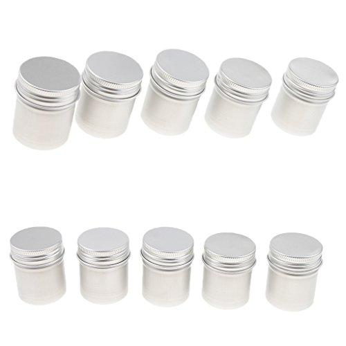 10 Pack 50ml Alu-Dose Cremedose Leerdose Blechdose Kosmetikdose für Kosmetik-Proben, Salbe, Kerzen, Medikamente, Pulver, Sahne Tee usw.
