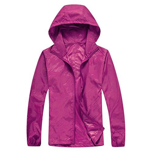 Kanpola Unisex Outdoor Wasserdicht Jacke mit Kapuze Damen Leichte Regenjacke Winddicht Funktionsjacke Herren Softshelljacke Wander Wetterjacke Quick Drying Top