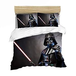 GDGM Juego de ropa de cama de Star Wars, funda nórdica de 155 x 220 cm, funda de almohada de 75 x 50 cm, algodón… 6