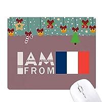 私はフランスから ゲーム用スライドゴムのマウスパッドクリスマス