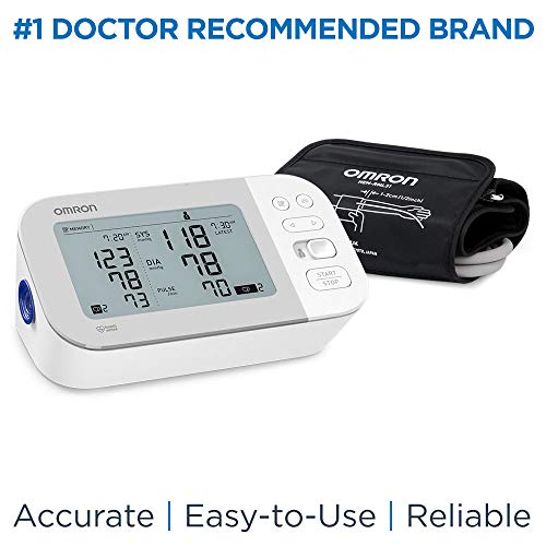 Omron Gold Blood Pressure Monitor, Premium Upper Arm Cuff, Digital Bluetooth Blood Pressure Machine, Storesup To 120 Readings for Two Users (60 Readings Each)
