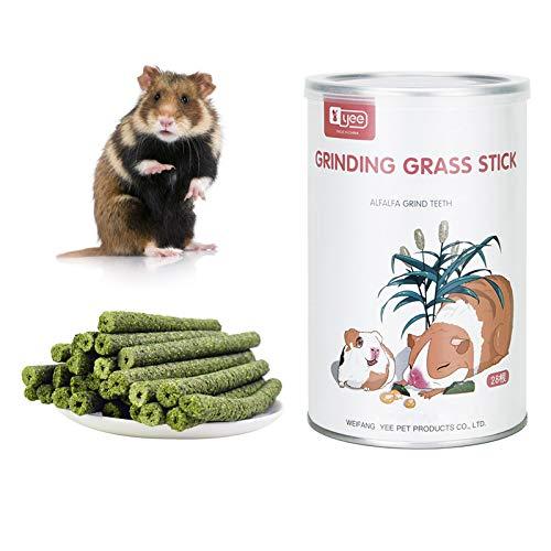 QKQB Juguetes para Masticar Conejos, Palo masticable de Hierba Timothy Natural para los molares para Conejito, hmster, Loro, Chinchilla(150g) (Sabor a Zanahoria)