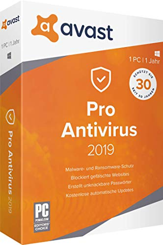 AVAST PRO Antivirus 2019 - 1 PC / 1 Jahr|2019|1 PC / 1 Jahr|12 Monate|PC, Laptop|Download|Download