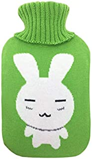 Ggdoo Extra Long Hot Water Bottles with Sleeve Cover Explosion-proof Body Waist Back Warmer Water Injection Bags Super Soft Cover Hot Water Bottle