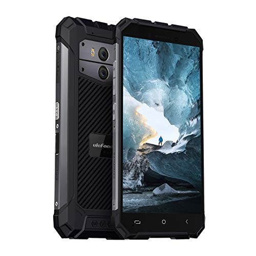 (2019) Ulefone Armor X2 Outdoor Handy, 5500mAh Akku, NFC, IP68 Wasserdicht, Stoßfest & Staubdicht 5 Zoll Bildschirm, 2GB + 16GB Fingerabdruck Face ID WiFi GPS Bluetooth -Schwarz