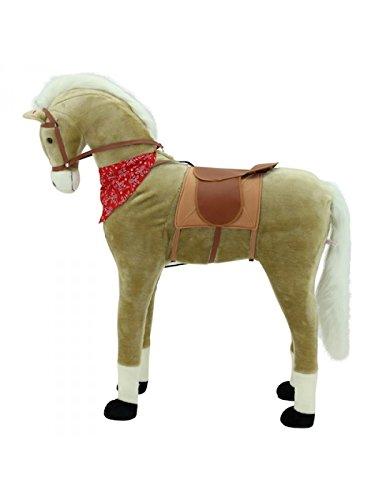 Sweety Toys 9039 Giant XXL Riesen Pferd Plüschpferd beige Stehpferd