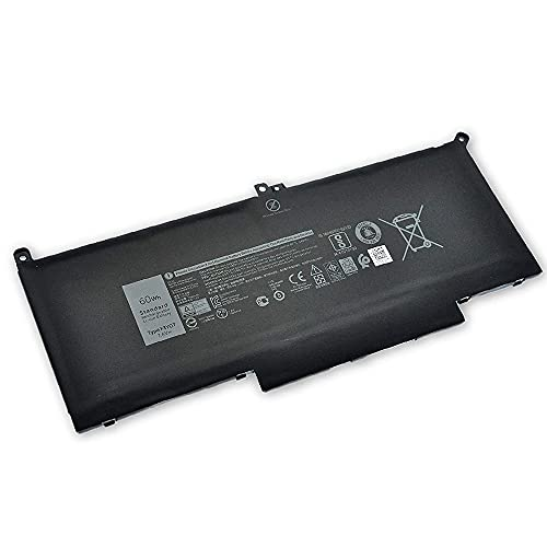 F3YGT 7.6V 60Wh Laptop Batería Repuesto para DELL Latitude 12 7000 7280 7480 DM3WC 0DM3WC 2X39G