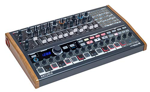 Arturia MiniBrute 2S Ecosystem Synthesizer (analoger Synthesizer mit intuitivem Step-Sequenzer) Schwarz