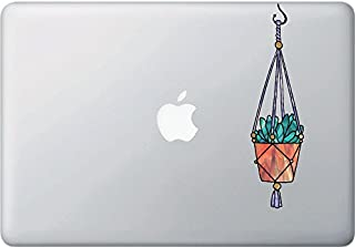 Hanging Succulent Plant - D2 - Stained Glass Style Vinyl Macbook Laptop Decal - Copyright 2016 Yadda-Yadda Design Co. (SIZE CHOICES) (MED 2
