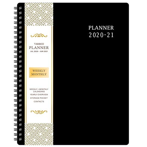 "2020-2021 Planner - Academic Weekly & Monthly Planner 8"" x 10"", Jul 2020-Jun 2021, Flexible Cover, to-Do List, Twin-Wire Binding"