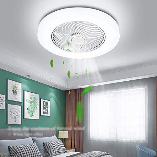 Deckenventilator Mit Beleuchtung Modernes Deckenleuchte Led Dimmbare Deckenlampe Fan Deckenleuchte Fernbedienung Ultra-Leise Kann Timing Creative Wohnzimmer Schlafzimmer Lampe Φ52 H18cm