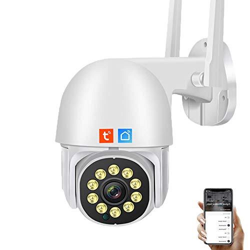 IOSICAM 1080P WIFI / WLAN Dome Kamera PTZ Überwachungskamera, Tuya Smart Life App, IP Sicherheitskamera, 2-Stimmen-Audio, Nachtsicht, Bewegungserkennung, wasserdicht IP66
