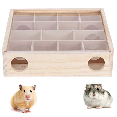 Ruiqas Laberinto de Hámster Laberinto de Animales Pequeños Mascota de Madera Natural Interactivo Inteligente Juguete para Mascotas para Ratones Ratones