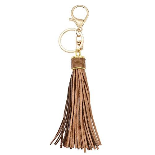 Kesheng 1pc Porte-clé Frange Tassel Bijoux Pendentif Sac Accessoire (doré foncé)