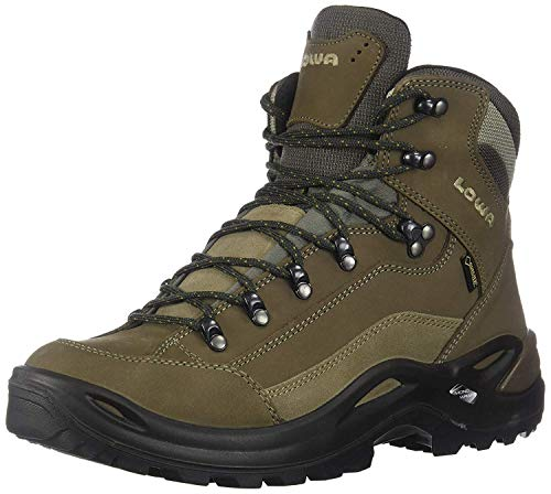 Lowa Women's Renegade GTX Mid Hiking Boot,Slate/Orange,10 M US