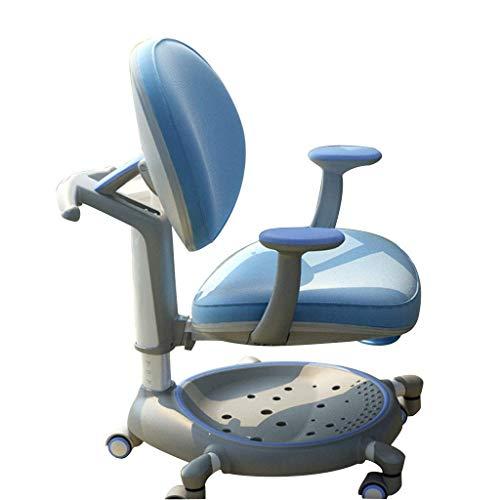 Comodo Levantar la silla de escritura cómoda butaca móvil silla de estudio de los niños sentados silla de corrección de la postura adecuada for 8-17 años de edad (color: rosa,...