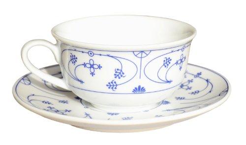 CUP+MUG Indisch Blau Dekor Porzellan Teetasse