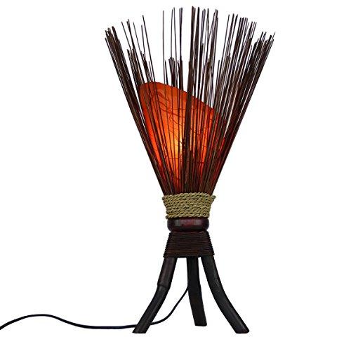 """Stehleuchte """"Jungle"""" 60x35cm • Bali Lampe in orange • außergewöhnliche Standleuchte aus Naturmaterialien • Stimmungslicht aus 100% traditioneller Handarbeit • asiatische Dekolampe • Simandra"""