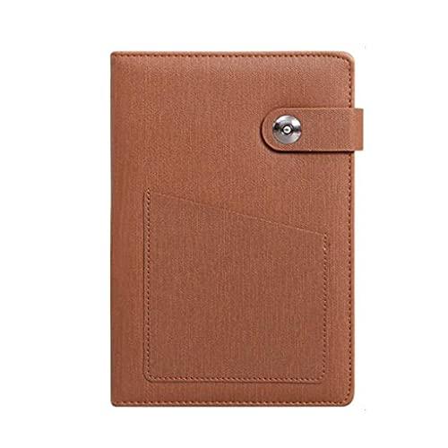 YUBIN Libro de revistas Cuadernos Diario Documento Downing Papel Hilo Encuadernación Material de Cuero Faux Cubierta Cubierta Regla (8.3 Pulgadas * 5.7 Pulgadas) (Color : Brown)