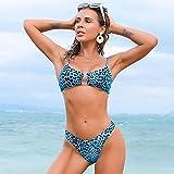 Bikini Sexy para Mujer Bikini con Estampado De Leopardo Push Up Trajes De Baño Traje De Baño para Mujer Bikini De Alta Cintura Traje De Baño Sexy Muje