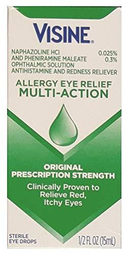 Visine Multi-Action Eye Allergy Relief Drops 1/2 Oz - Pack of 2