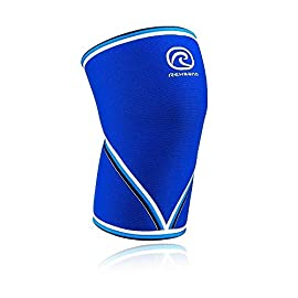 Rehband 7mm Knee Sleeve - Model 7051 Original Blue (Renewed) 14 ENABLE YOUR POTENTIAL - MOVE BETTER - GET STRONGER - TRAIN HARDER - Feel more confident and secure in any activity, from weekend warrior to Powerlifting (IPF Approved), Olympic lifting (IWF Approved), Crossfit, Strongman or Elite team sports. The classic Rehband 7051 provides knee support with comfortable, flexible, knee joint compression. The 7051 acts as a mobile knee support that offers warmth, relieves pressure, and improves coordination. The top selling Rehband knee sleeve of all time. PATENTED TECHNOLOGY - The Rehband knee support pattern construction is built on an anatomical fit so unique that it has been patented! Our patented design is based on the anatomical contour of the leg. Rehband's knee sleeves are created by a dedicated R&D team working with textile engineers to offer an optimal combination of support and comfort, while designed to truly fit your body. ANY ACTIVITY, ANY AGE, ANY SKILL LEVEL - The Rehband knee sleeve provides reinforcement all the way around the knee, and allowing for an optimal range of motion in any activity - whether you're an elite athlete or just casually active. It's perfect to help prevent strain or injury, while also ideal to use for faster recovery and rehabilitation. Our knee sleeve improves blood flow through compression and keeps knee joints warm to reduce overall joint pressure, swelling, and strain.