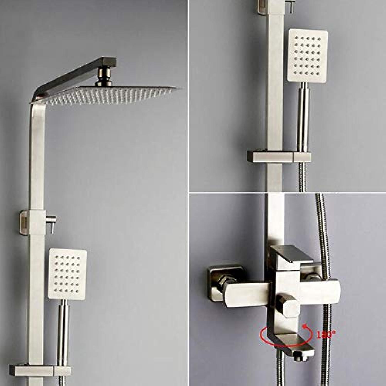 MICHEN New Luxury Wall Mounted Edelstahl Regendusche Armaturen Set System Kalt- & Warmwasser Platz Handbrause