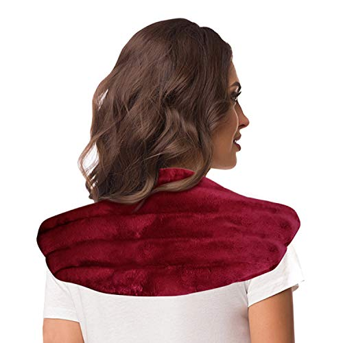 Heating Pad for Neck and Shoulders | Microwavable Moist Heat Aromatherapy Wrap Hot Compress for Arthritis, Muscle Pain, Anxiety and Stress Relief with Natural Lavender Scent by TheraCool