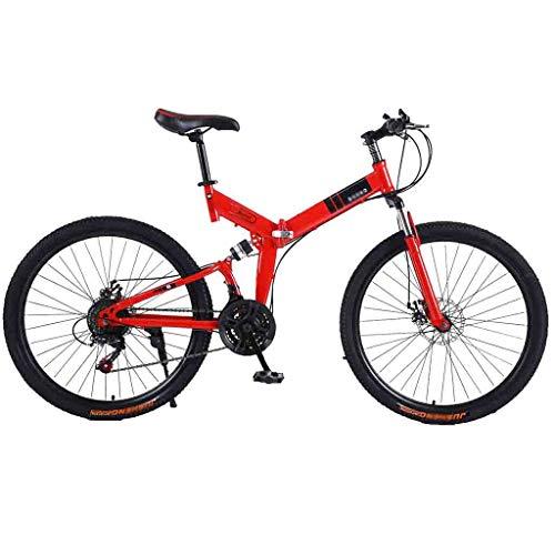 tools BMX Dirt Vélos de Route Vélo VTT Adulte VTT Pliable Route Vélos for Hommes et Femmes 24En Roues Double Vitesse réglable Frein à Disque (Color : Red-B, Size : 24 Speed)