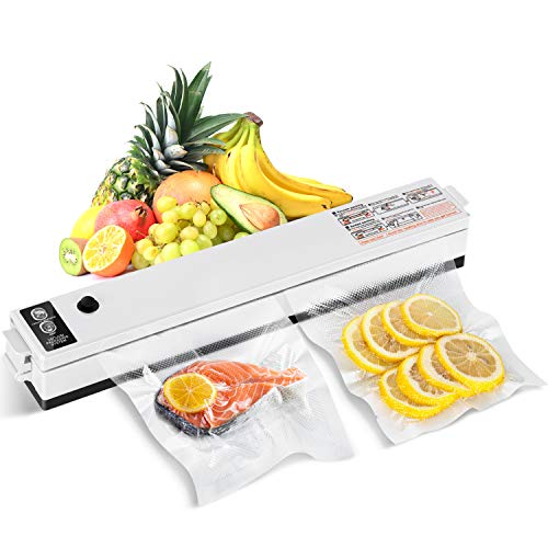 Vakuumierer SCHIELE Vakuumiergerät für Sous Vide Kochen und Trockene & Feuchte Lebensmittel Vakuumierer Doppelte Schweißnaht inkl. 10 Vakuumrollen(Mehrweg)