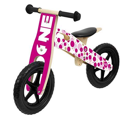 Sun&Sport - Balance Bike in Legno Girl - Biciletta Bambina Equilibrio - Bici Rosa Bimba 6 Anni