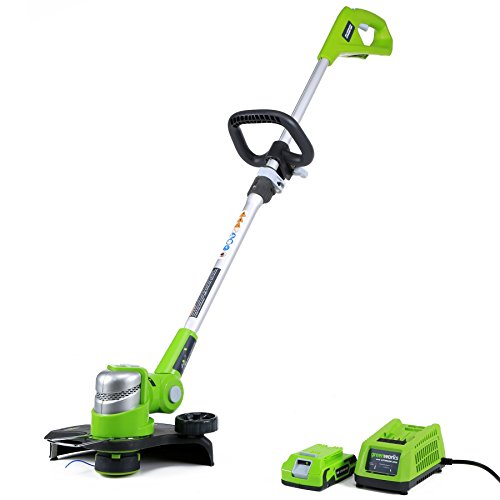 Greenworks 12-Inch 24V Cordless String Trimmer/Edger, 2.0 AH Battery Included 21342 (Renewed)
